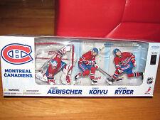 McFarlane NHL Montreal Canadiens David Aebischer Saku Koivu Michael Ryder 3 Pack