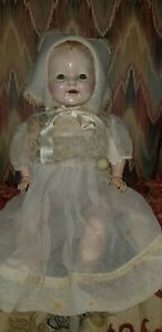 """ANTIQUE ACME COMPOSITION HONEY BABY DOLL 18"""""""