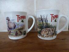 2 Coloured TY.PHOO tea & The Wildlife TRUSTS ceramic mugs