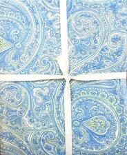"April Cornell Green & Blue Paisley Floral Flowers Fabric 60"" x 120"" Tablecloth"