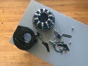 Arlen Ness 18-203-1 Black 10-Gauge Inverted Air Cleaner Kit Harley Davidson
