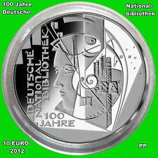 BRD**10 Euro** 2012 ** 100 Jahre Deutsche Nationalbibliothek **PP**Variante B**