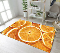 Fruits Orange Pulp Kitchen Bathroom Area Rugs Floor Non-Slip Mat Carpets 010