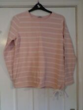 George Pink and White Striped Sweatshirt Size 16