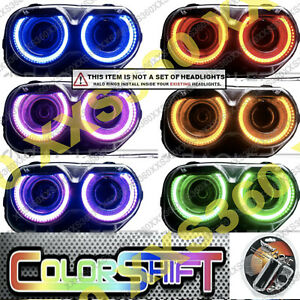 ORACLE Headlight HALO RING KIT for Dodge Challenger 15-20 LED COLORSHIFT 1.0