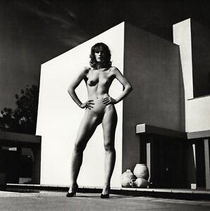 1980s Vintage HELMUT NEWTON Female Nude Woman Fashion Photo Engraving Art 11X14