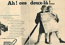 PUBLICITE ADVERTISING 104  1961  COLLEGIEN   chaussettes enfants ( 2 pages)
