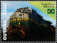 EFVM Railroad (Brazil Railways) GE Class BB40-9W Diesel-Electric Train Stamp