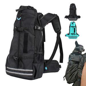 Black Dog Carrier Backpack for Outdoor Travel Sport Camping Adjustable Soft Sack