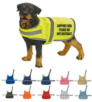 Custom Support Dog Coat High Vis Vest Printed Pet Safety Reflective Hi Viz