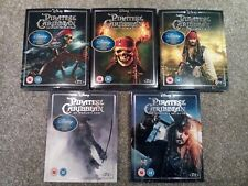 Pirates of the Caribbean Blu Ray all 5 Films Sealed with Limited edition Artwork