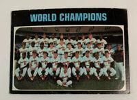 1971 Baltimore Orioles World Champions # 1 Topps Baseball Card Series Champs