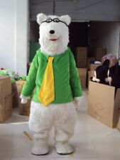 Halloween Polar Bear Mascot Costume Suit Cosplay Party Game Dress Adult Clothing