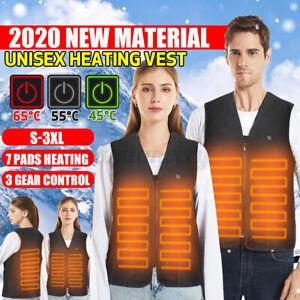 Winter Heated Vest Warm Body Electric USB Jacket Men Women Heating Coa