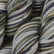 *100g *Hand-Dyed BRITISH SOCK WOOL* 4 Ply Grey Multi-Colour knitting yarn.lace