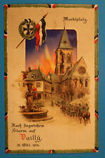 Aisne 02 Halte gegen Licht Litho AK CPA Vailly sur Aisne 1914 Ruines 1.WK feu ++