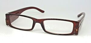 Reading glasses x 2.0  with Led lights . Brown
