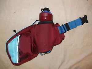 Camelbak Podium Flow Belt & Bottle, 21oz, Burgundy/Lake Blue