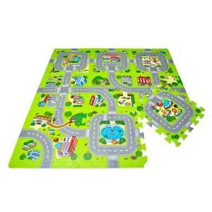 Puzzlematte Straße Kinder Spielmatte TÜV geprüft Krabbelmatte Baby Spielstraße