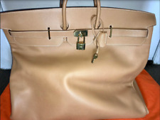 HERMES 60CM MOST WANTED HAC natural nude luxury luggage bag travel birkin RARE!