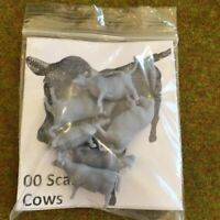 00 Scale Cows - Model Raiway Farm Animals Resin Wargame Scenery oo/ho gauge 1/76