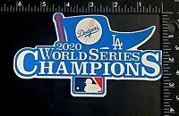 "Los Angeles Dodgers 2020 World Series Champions Vinyl Sticker 6"" x 3.5"" GO BLUE!"