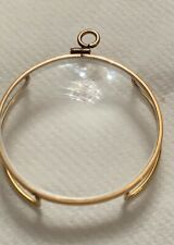 Antique Victorian monocle magnifying gold plated glass, reading glasses.