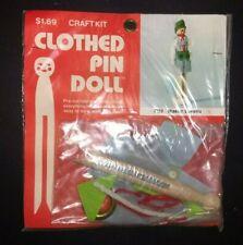 Vintage B Blumenthal Co Clothespin Doll Craft Kit Master Bavaria