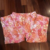 Lilly Pulitzer 3/4 Pants Orange Pink Capris Size 8 EUC