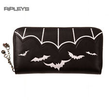 BANNED Clothing Black Wallet Purse BATS Salem White Goth Gift
