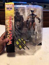Diamond Select Marvel X-Men Brown Uniform WOLVERINE Action Figure, Damaged Box