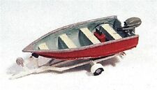 JL Innovative (HO-Scale) #455 Fishing Boat, Motor & Trailer - NIB
