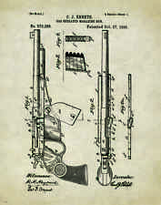 Revolver Pistol Patent Poster Art Print Antique Colt Winchester Gun  PAT273
