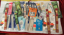 36 Pc Sewing Knitting Crochet Estate Lot Needles Bamboo Many Sealed Packages