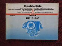GENUINE KHD DEUTZ BF 8L 10L 12L 513 DIESEL ENGINE PARTS CATALOG MANUAL VERY GOOD