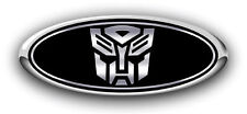 Ford Focus 2010-2012 Autobot Custom Overlay Emblem Decal 3PC Kit