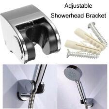 Adjustable Shower Head Holder Base Bathroom Bath Shower Wall Bracket Mounted