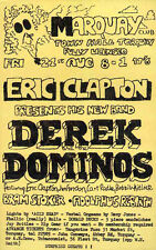 More details for eric clapton derek & the dominoes repro 1970 torquay concert poster