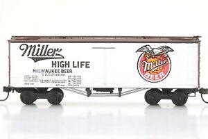 "HO Roundhouse Miller High Life 36ft ""Old Time"" Reefer Car Nice Assembly KD"