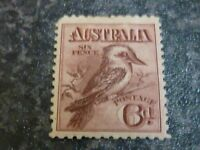 AUSTRALIA POSTAGE STAMP SG19 6D MOUNTED MINT