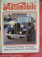 THE AUTOMOBILE 1988 FEBRUARY PRINCE HENRY VAUXHALL 1913 SINGER AUSTIN SEVEN