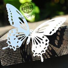 10pcs Silver Butterfly Window Pendant Suncatcher Hanging Metal Prisms Feng Shui