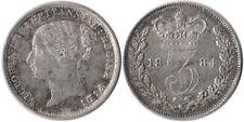 1884 Great Britain 3 Pence Silver Coin Victoria KM#730