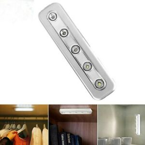 5 Ultra LED Strip Push Light Adhesive Stick On Battery Operated Kitchen Cupboard