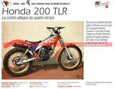 HONDA 200 TLR ( TL 200 R ) 1983 Fiche Moto 000180
