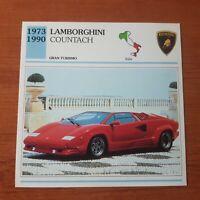 Ficha Lamborghini Countach Autos de coleccion Editorial Planeta de Agostini cars