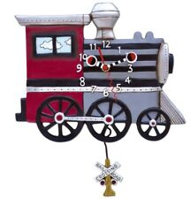 Allen Design Clocks Choo Choo train Pendulum Clock Ideal Gift For All Occasions