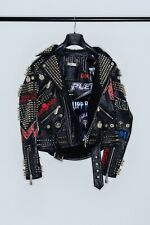 Philipp Plein leather biker 'Rock PP'
