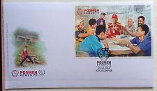 Malaysia FDC with Miniature Sheet (09.10.2016) - Community Postman