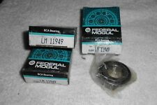 2  NOS BCA FEDERAL MOGUL BEARINGS LM 11949 TAPERED ROLLER BEARINGS  LM11949